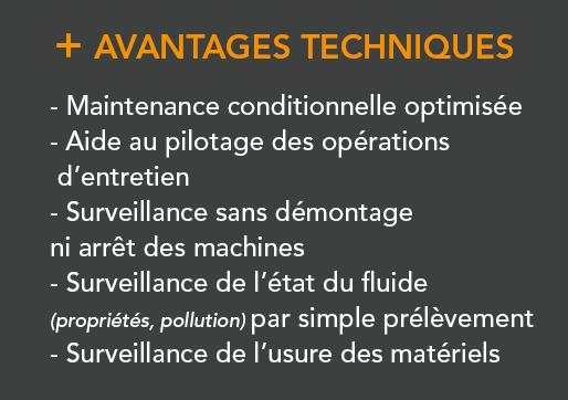 Professionnel - IESPM - Analyse de lubrifiants -Avantages Techniques